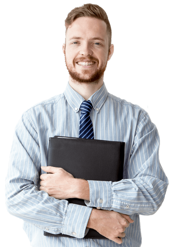 Businessman with shirt and tie